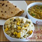 NorthIndian Lunch Menu #3 – Oats Thepla, Sweet Corn Methi Pulao, Dal Tadka