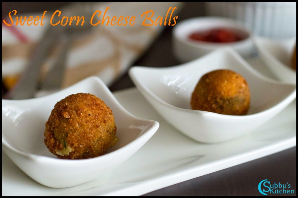 Sweet Corn Cheese Balls Recipe | Cheese Corn Balls Recipe