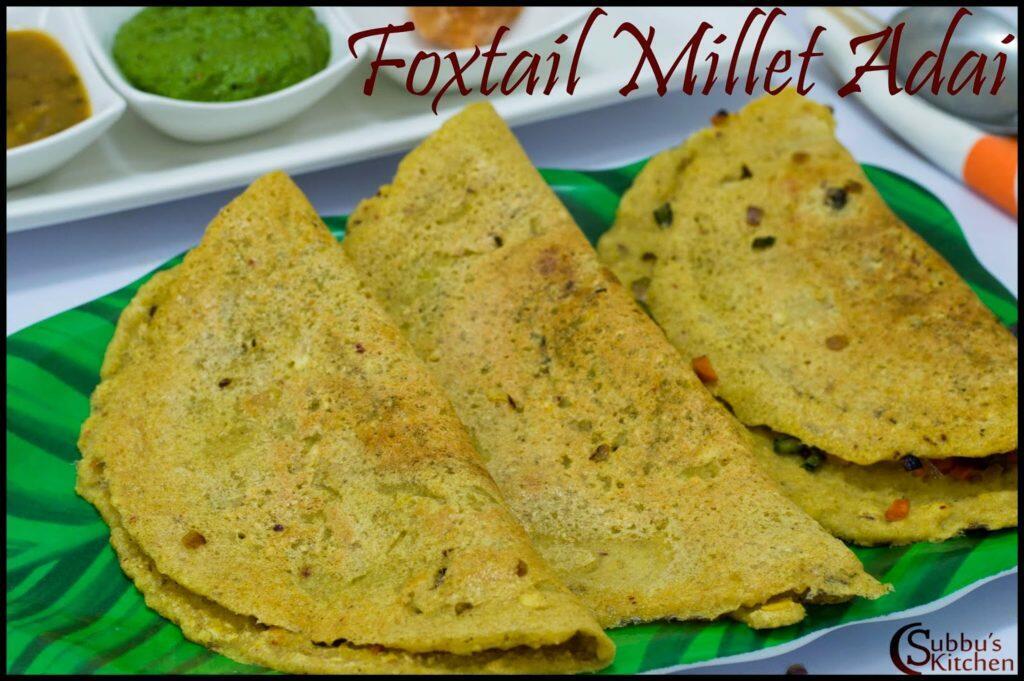 Thinai Vegetable Adai Recipe | Foxtail Millet Vegetable  Adai Recipe