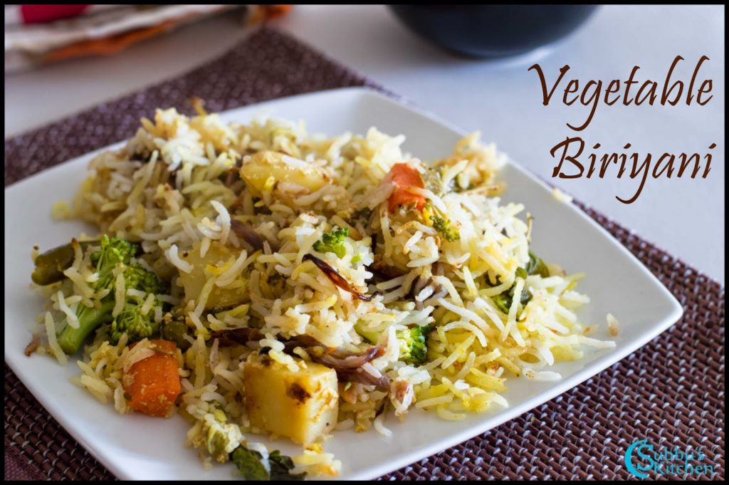 Vegetable Biriyani Recipe | How to make Vegetable Biriyani