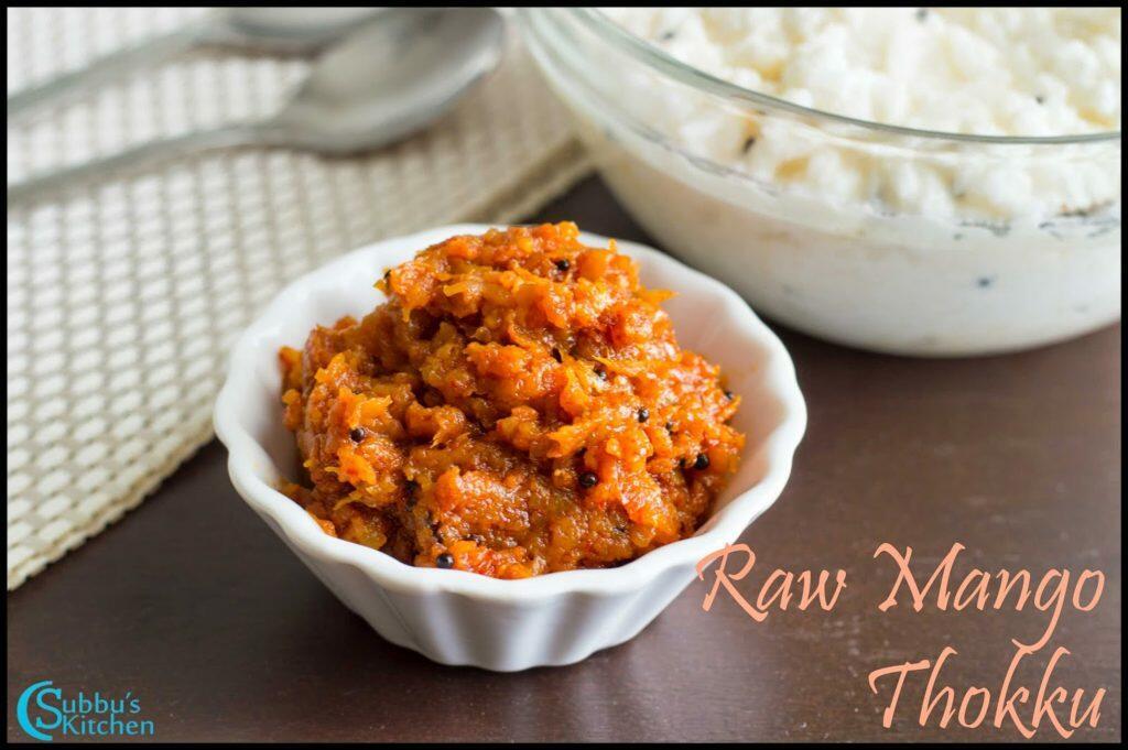 Mangai Thokku Recipe | Grated Raw Mango Pickle Recipe | Mango Thokku Recipe