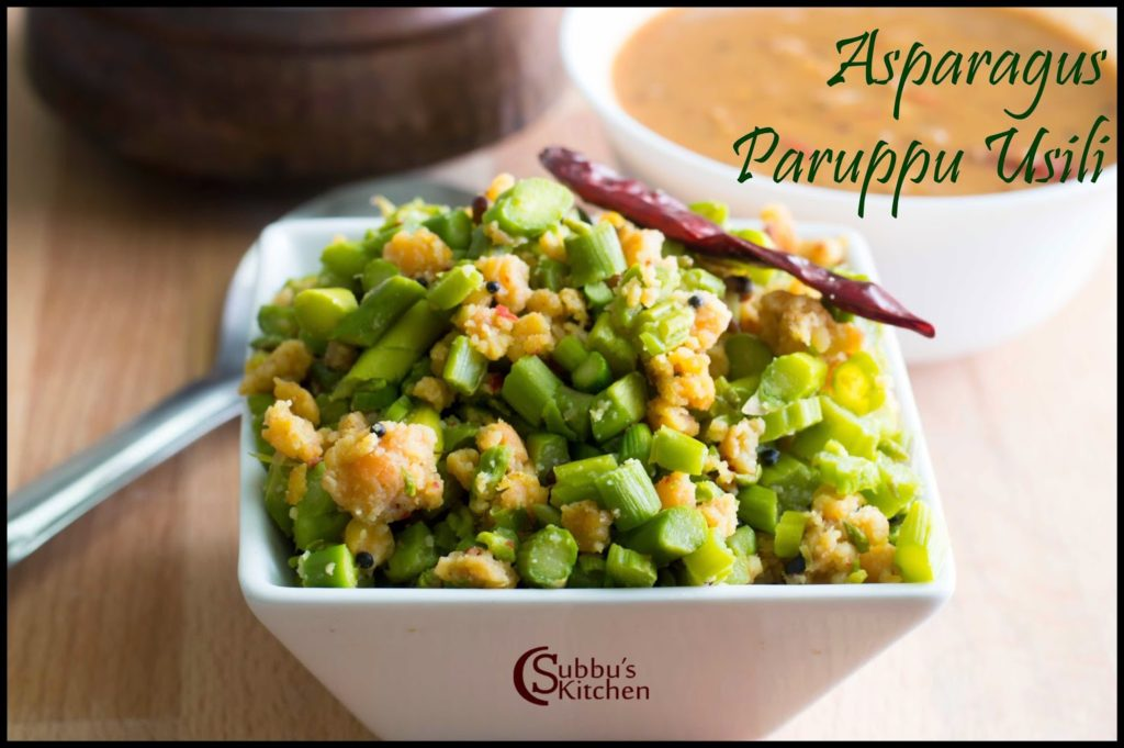 Asparagus Paruppu Usili Recipe
