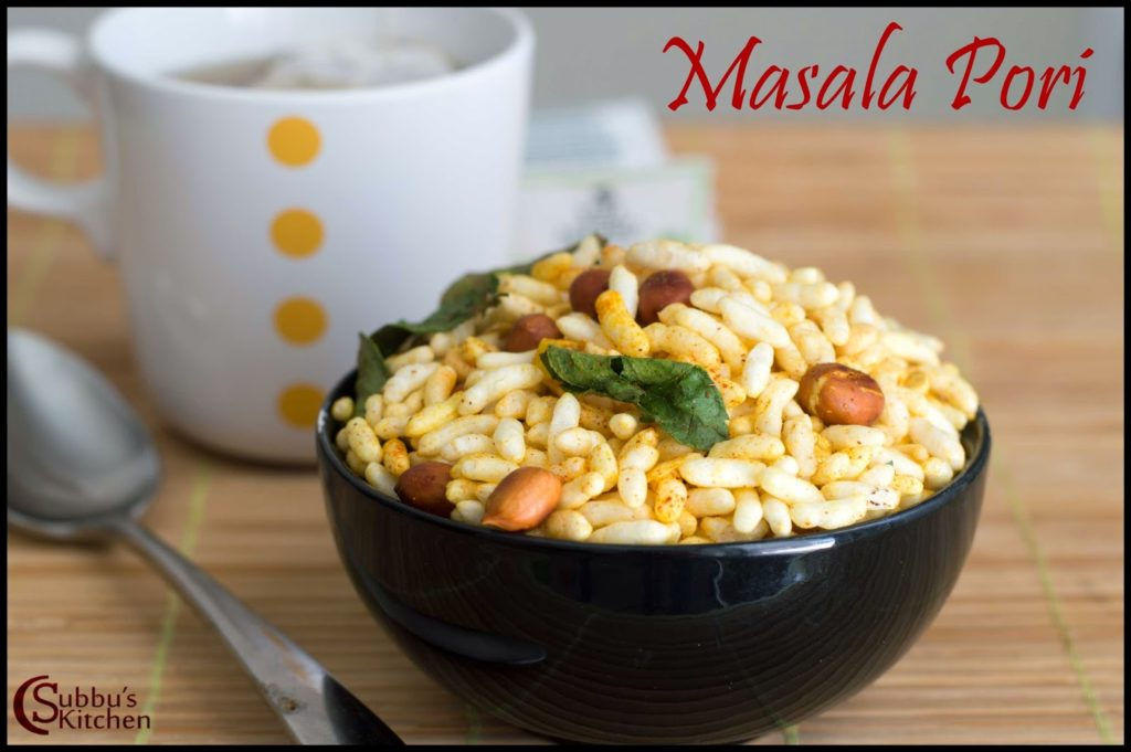 Masala Pori Recipe | Spicy Puffed Rice Recipe