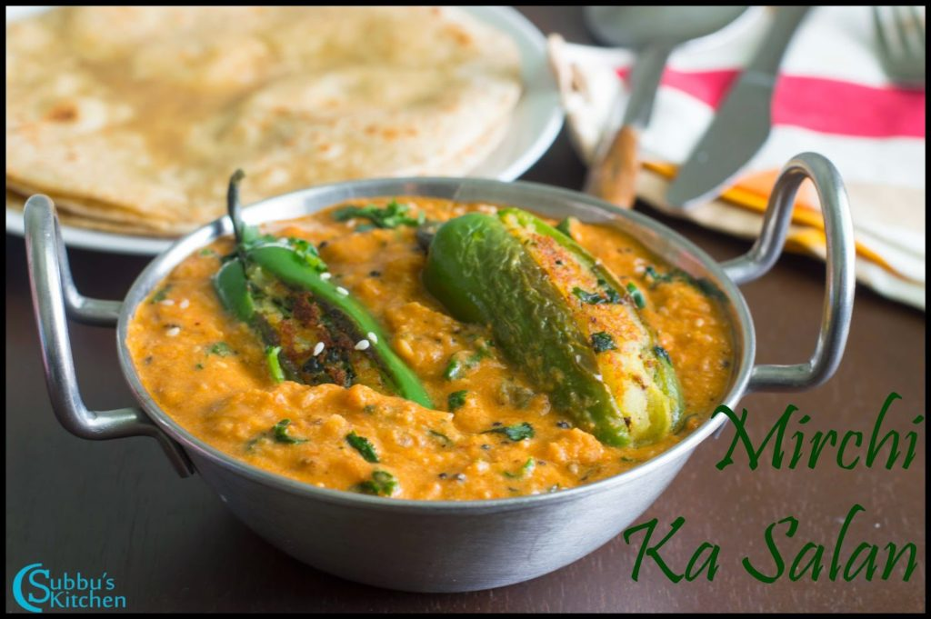 Mirchi Ka Salan Recipe | Stuffed Spicy Jalapeno Curry Recipe