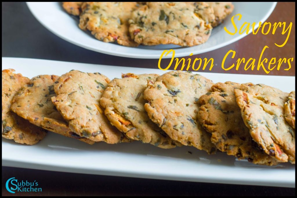 Baked Savory Onion Crakers Recipe