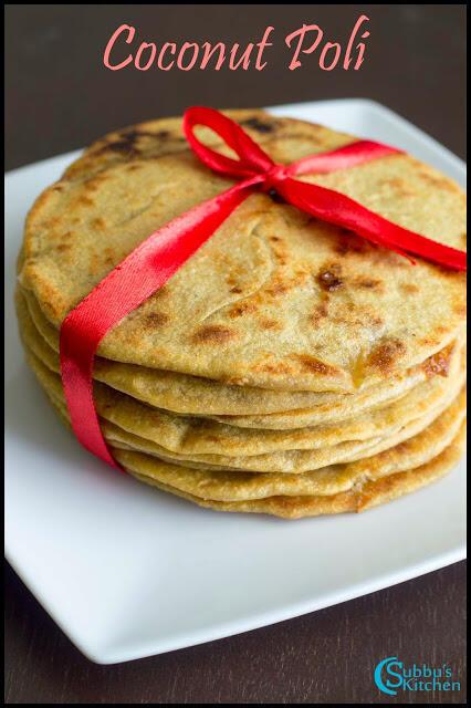 Coconut Poli Recipe | Thengai Purana Poli Recipe | Wheat Flour Poli Recipe