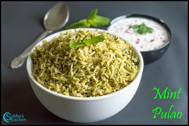 Mint Coriander Leaves Pulao Recipe | No Onion No Garlic Mint Pulao Recipe