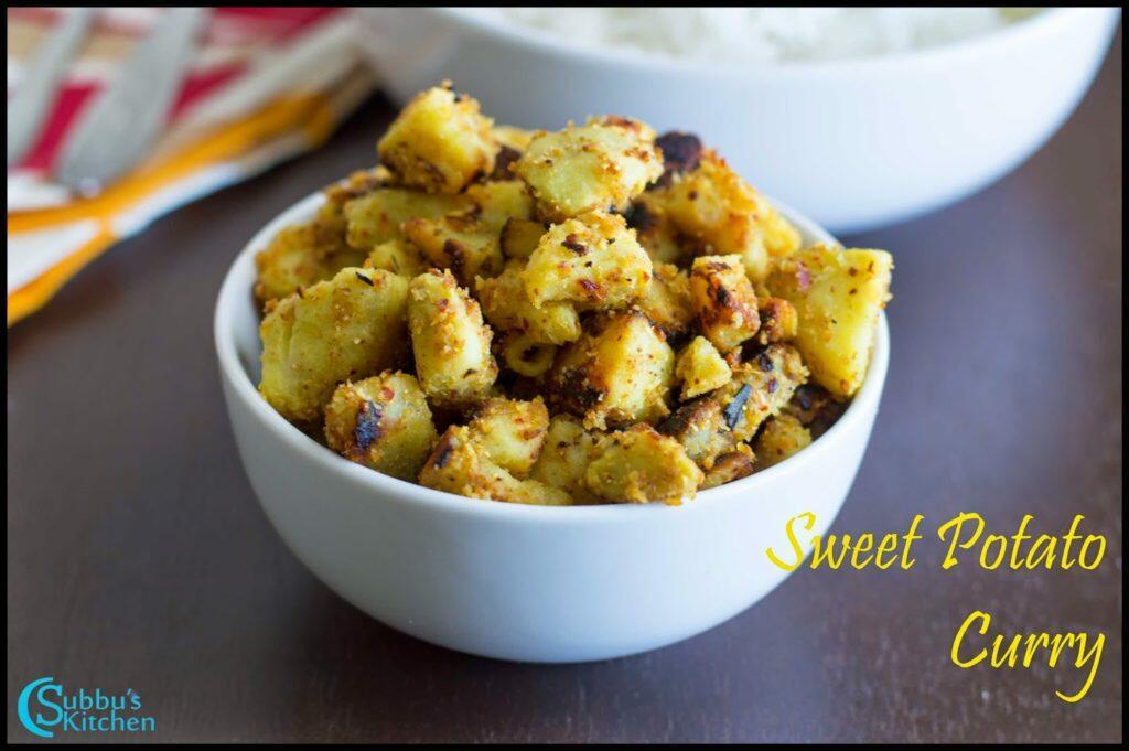 Sweet Potato Spicy Curry Recipe | Sakaravelli Kizhangu Podi Pota Poriyal Recipe