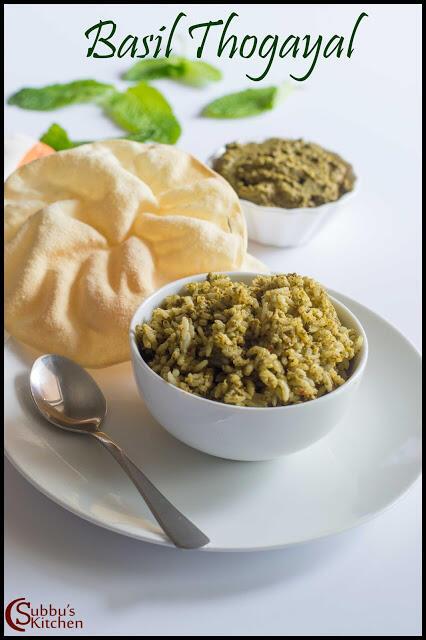 Basil Thogayal Recipe