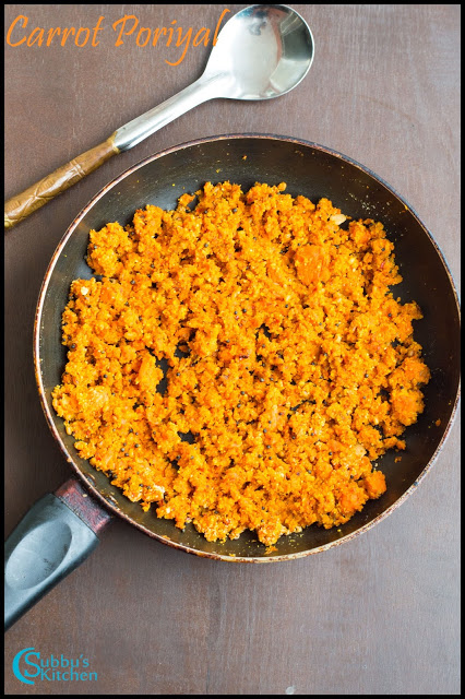 Carrot Poriyal
