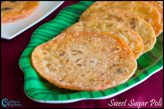 Puran Poli | Puran Poli with Dal and Sugar Filling