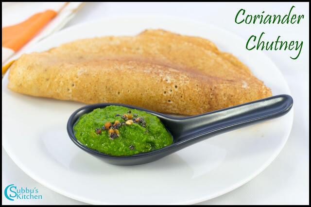 Restaurant Style Coriander Chutney Recipe