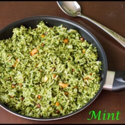 Pudhina Rice(Mint Rice)