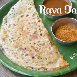 Rava Dosai | Restaurant Style Crispy Rava Dosa Recipe