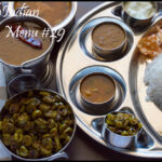 South Indian Lunch Menu #29 – Hotel Sambar, Pineapple Rasam, Kovakkai Curry, Curd, Rice and Papad