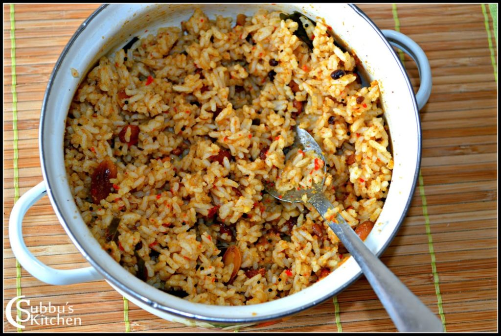 Puliyodharai Recipe Subbus Kitchen
