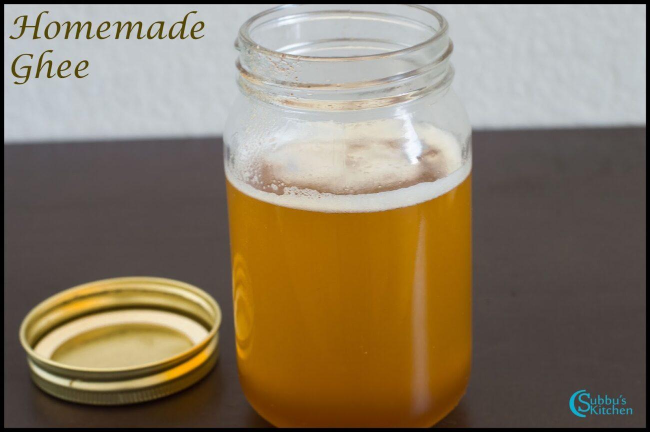 Homemade Ghee | How to make Homemade Ghee