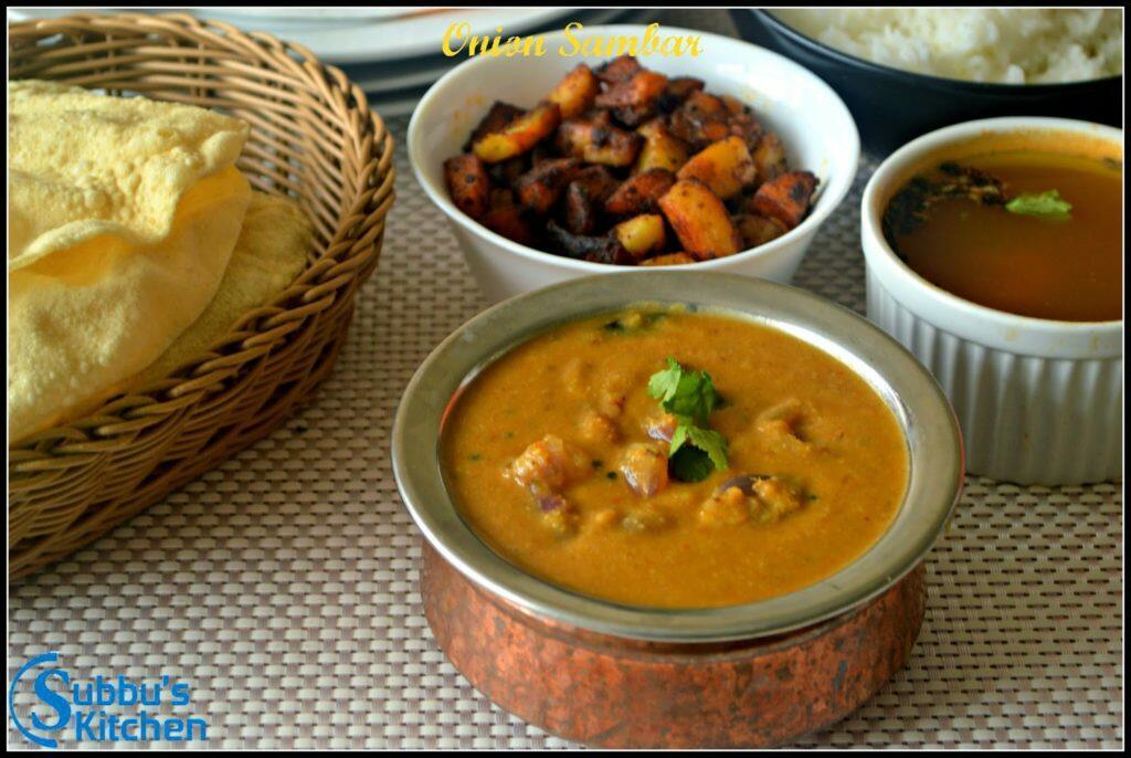 Onion Sambar / Vengaya Sambar