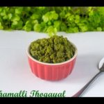 Kothamalli Thogayal Recipe | Coriander Leaves Thogayal