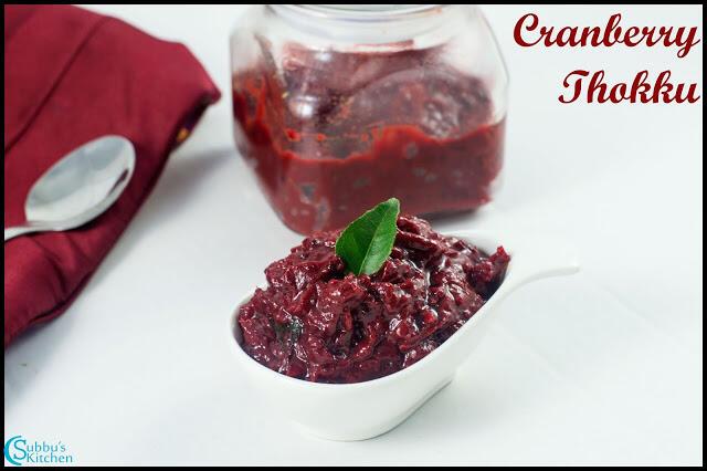 Cranberry Thokku Recipe