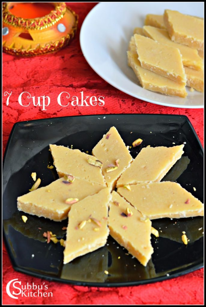 Seven cups cake (7 cup cake) - Subbus Kitchen