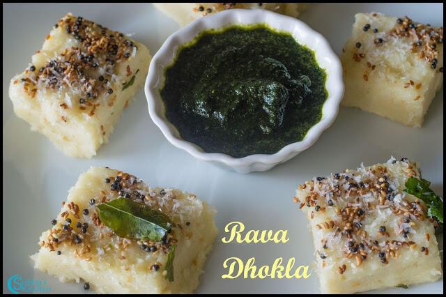 Rava Dhokla Recipe   Sooji Dhokla   Semolina Dhokla