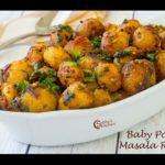Baby Potato Masala Roast Recipe  Chinna Urulai Masala Varuval Recipe