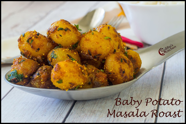 Baby Potato Masala Roast Recipe| Chinna Urulai Masala Varuval Recipe