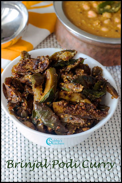 Brinjal Podi Curry Recipe   Kathirikkai Podi Pota Curry