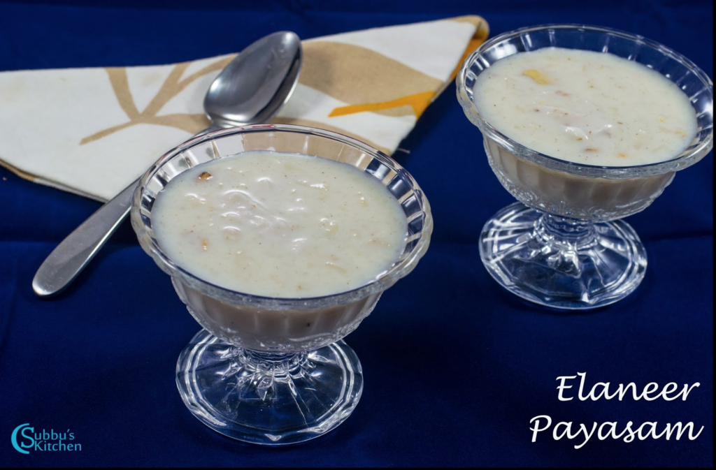 Elaneer Payasam Recipe | Tender Coconut Payasam Recipe