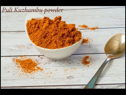 Puli Kuzhambu Podi Recipe | Kuzhambu Spice Powder Recipe