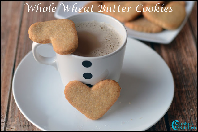 Whole wheat Butter Cookies Recipe