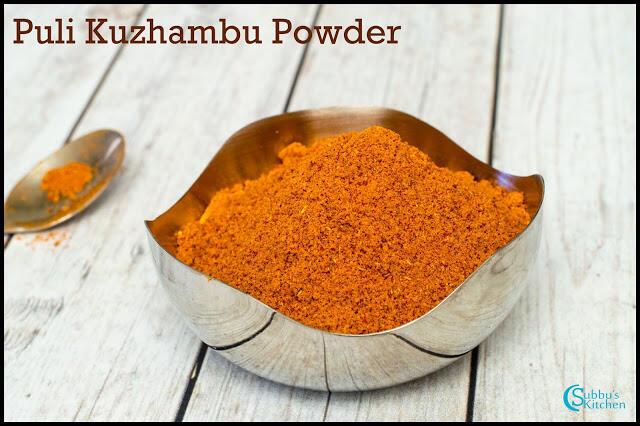 Puli Kuzhambu Podi Recipe | Kuzhambu Spice Powder Recipe