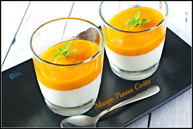 Mango Coconut Panna Cotta Recipe