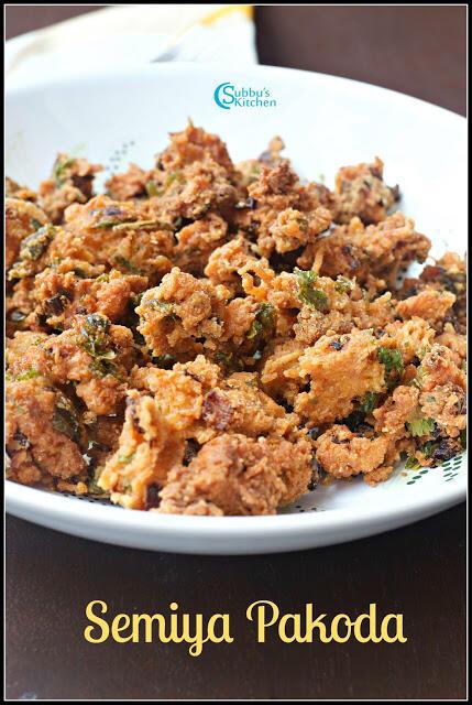 Semiya Pakoda | Vermicelli Fritters