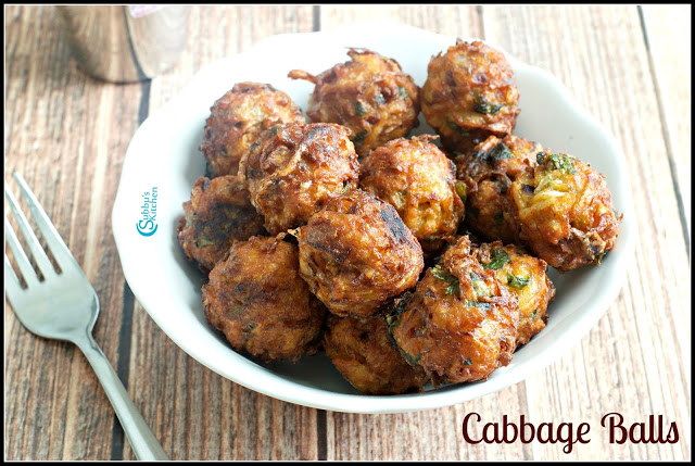 Cabbage Balls Recipe | Crispy Cabbage Dumplings