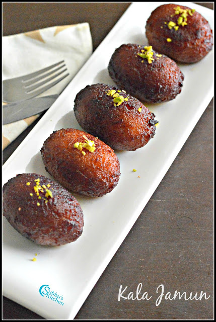 Kala Jamun Recipe | How to make Kala Jamun with Nuts Filling
