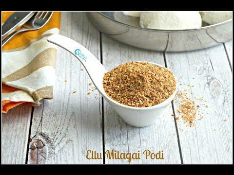 Ellu Milagai Podi for Idli & Dosa | Sesame Seeds Idli Podi