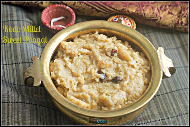 Varagu Arisi Sakkarai Pongal Recipe | Kudo Millet Sweet Pongal