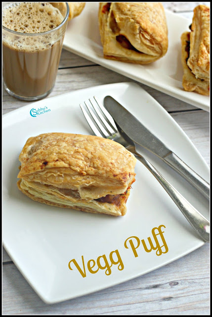 Bakery Style Vegetable Puff Recipe | Vegg Puff Recipe