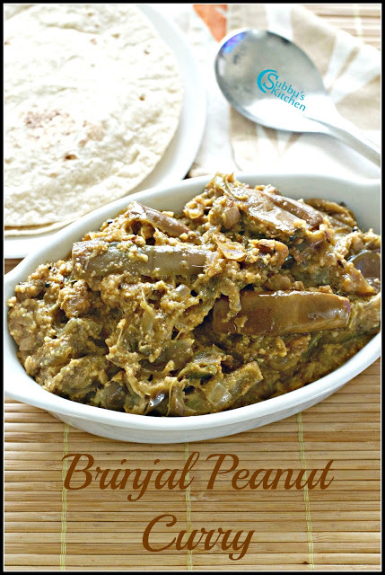 Brinjal Peanut Curry Recipe | Brinjal in Peanut Gravy Recipe