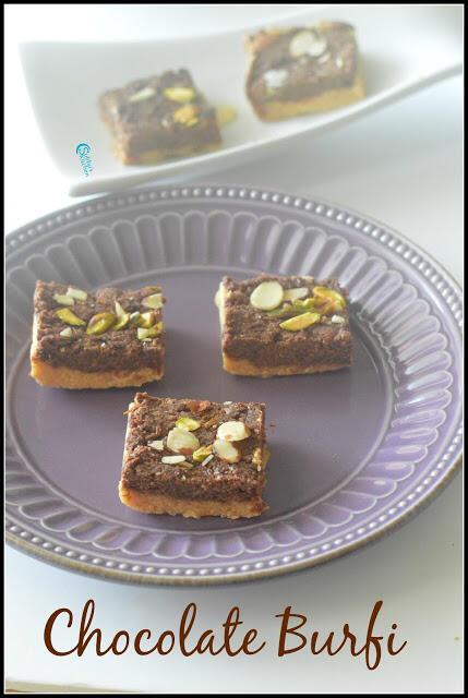 Chocolate Khoya Burfi | Double Layered Chocolate Burfi Recipe