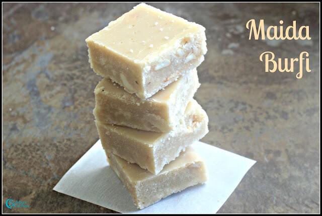 Maida Burfi Recipe | Easy Burfi Recipe | Diwali Sweets