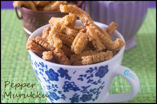 Pepper Murukku Recipe | Spicy Peppercorns Indian Snack