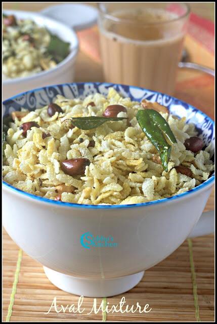 Poha Chivda Recipe | Aval Mixture Recipe