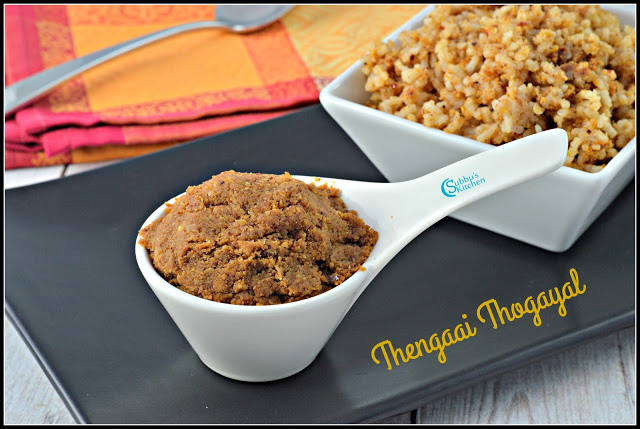 Thengai Thuvayal(Cocunut Thuvayal) | How to make Coconut Thogayal