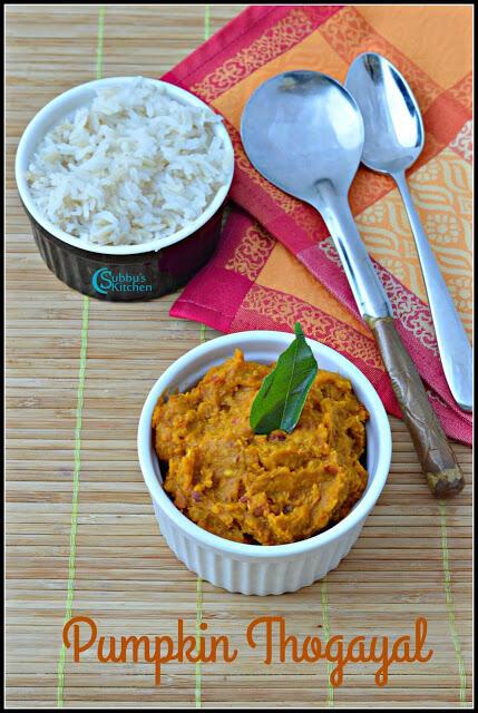 Yellow Pumpkin Thogayal | Parangikkai Thogayal