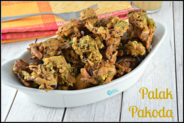 Palak Pakoda Recipe | Spinach Fritters Recipe