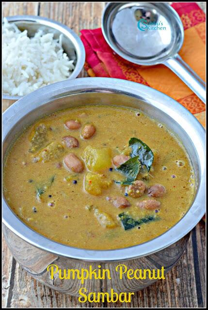 Ashgourd Peanut Sambar Recipe | Poosanikkai Sambar