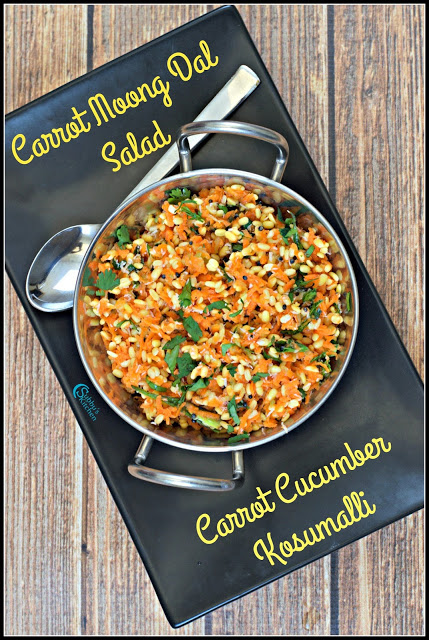 Carrot Kosumalli Recipe | Carrot MoongDal Salad Recipe